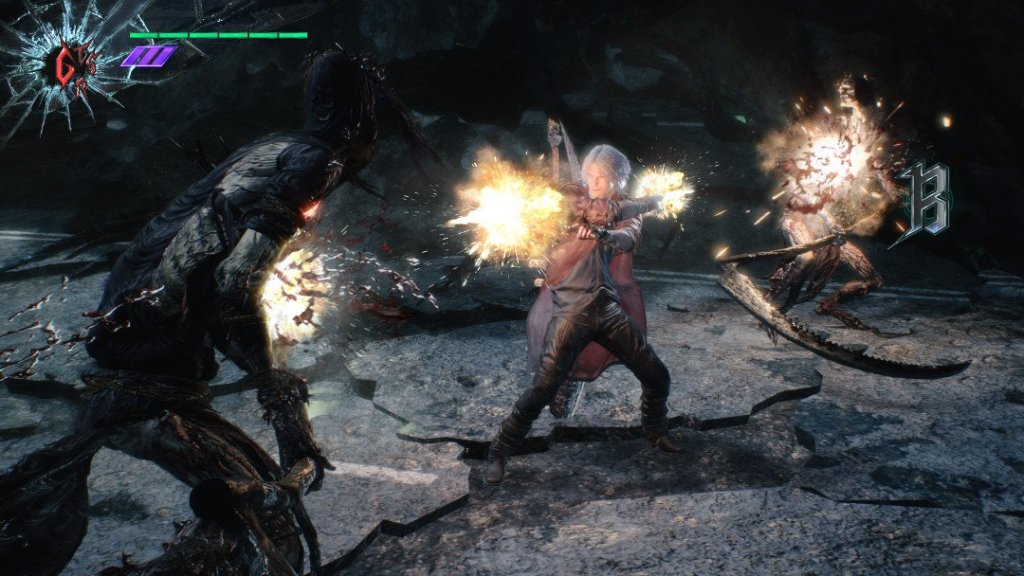 Uno screenshot di Devil May Cry 5