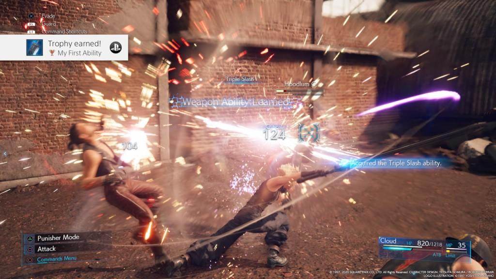 Uno screenshot di Final Fantasy VII Remake