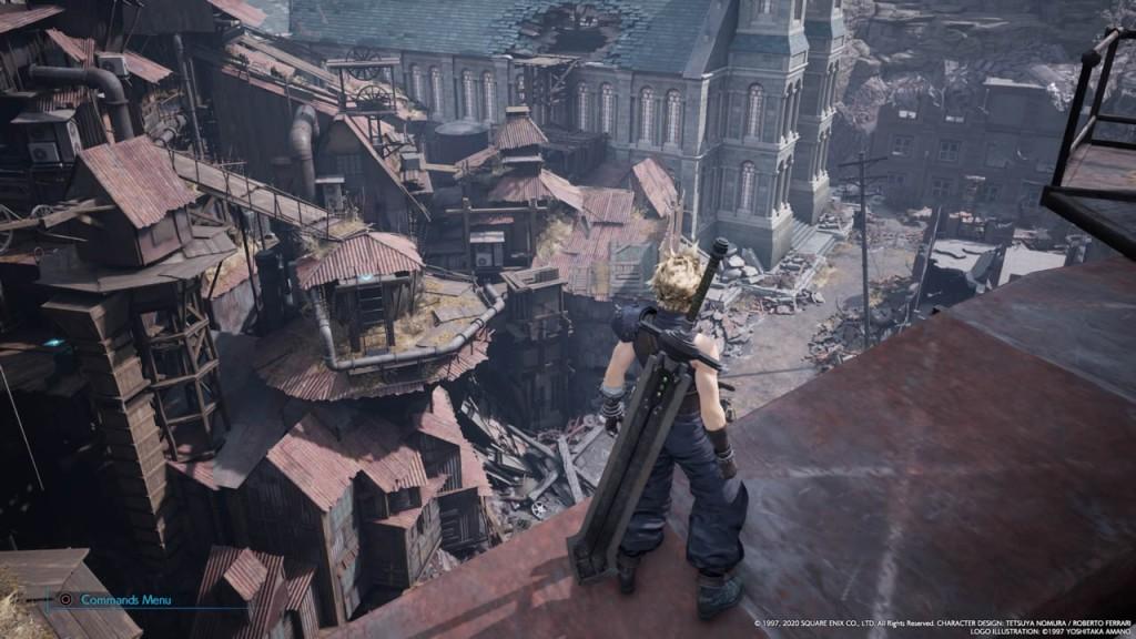 Uno screenshot di Final Fantasy VII