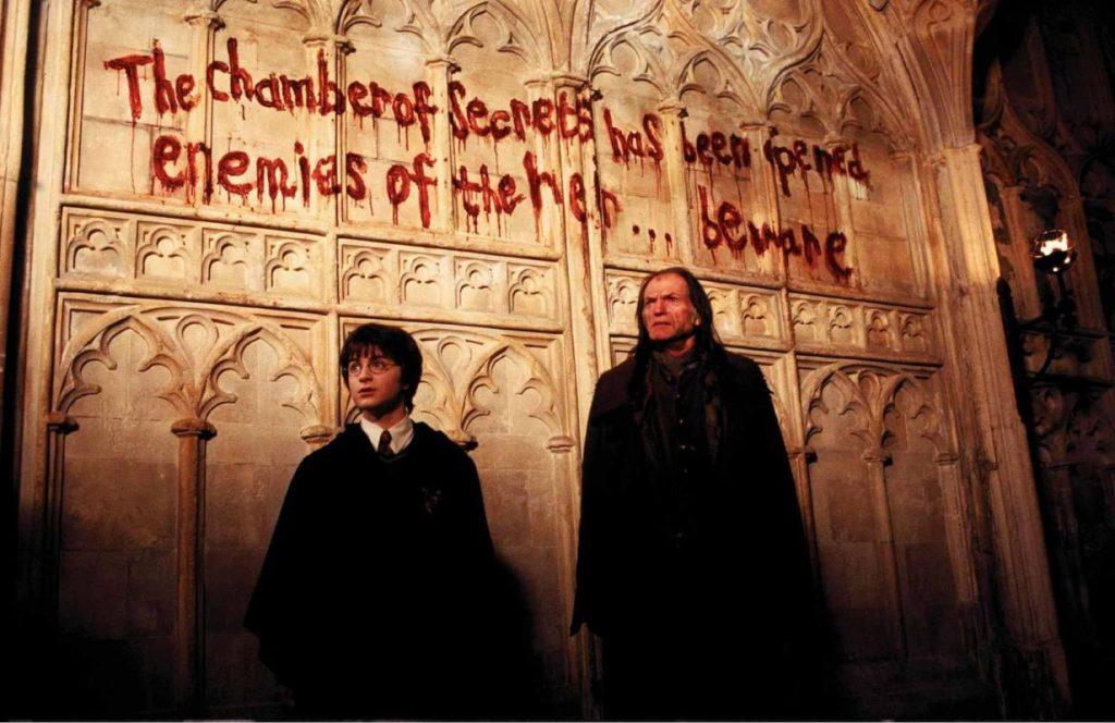 """Una scena tratta dal film """"Harry Potter e la Camera dei Segreti"""""""