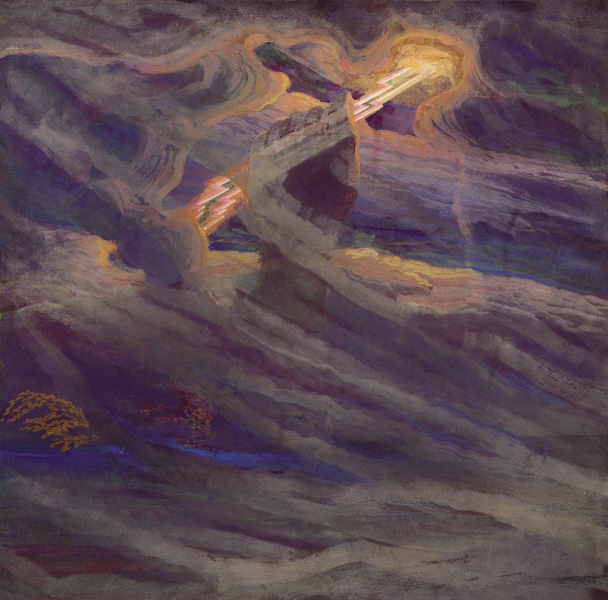 Una rappresentazione di Perkūnas
