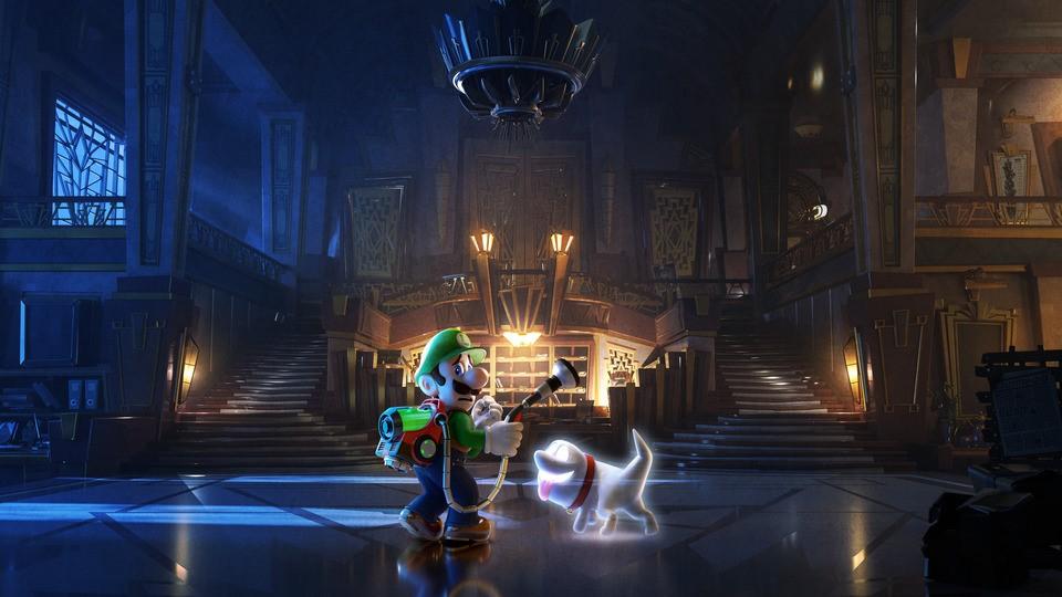 Un artwork di Luigi's Mansion 3