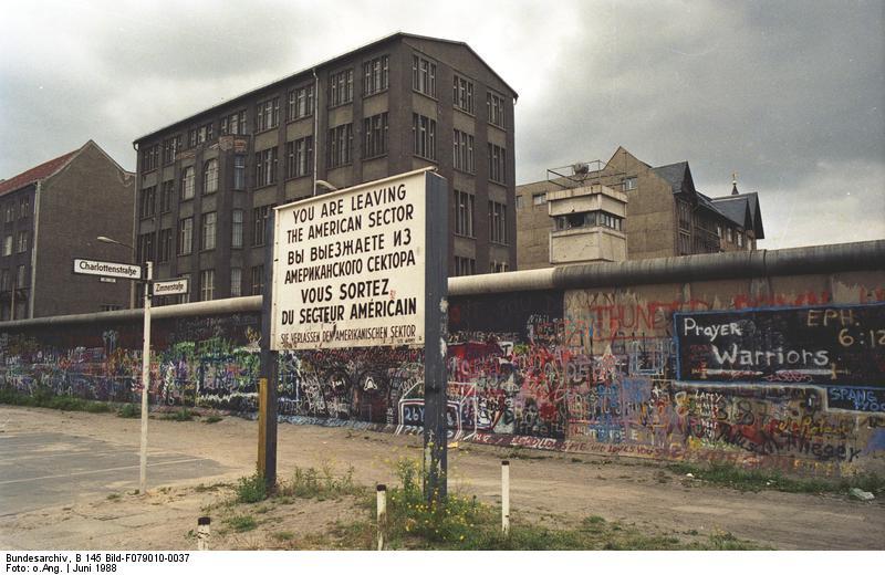 Il muro di Berlino nel 1988 (Credit: Bundesarchiv, B 145 Bild-F079010-0037 / CC-BY-SA 3.0)