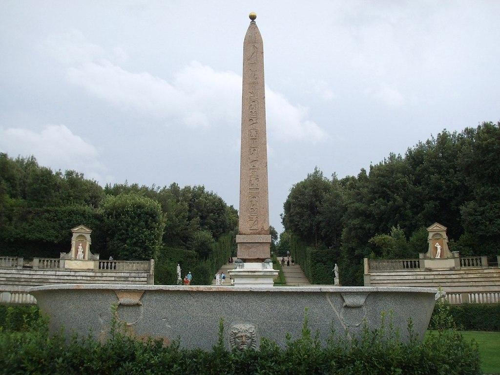 L'obelisco presente nel giardino di Boboli